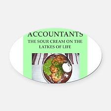 accountant Oval Car Magnet