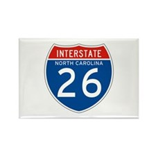 Interstate 26 - NC Rectangle Magnet (10 pack)
