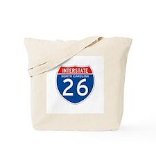 Interstate 26 - NC Tote Bag