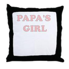 PAPAS GIRL Throw Pillow
