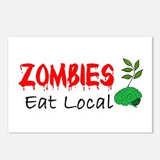 Zombies Eat Local Postcards (Package of 8)