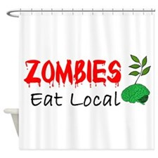 Zombies Eat Local Shower Curtain