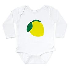 Lemon Long Sleeve Infant Bodysuit