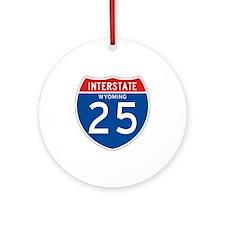 Interstate 25 - WY Ornament (Round)