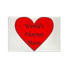 World's Okayest Mom Rectangle Magnet
