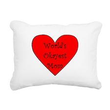 World's Okayest Mom Rectangular Canvas Pillow