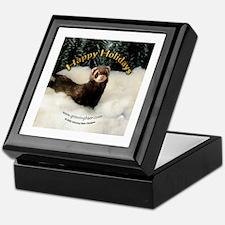 Ferret Happy Holidays Keepsake Box