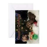Ferret christmas Greeting Cards (10 Pack)