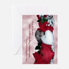 Ferret Hug Greeting Cards (Pk of 10)