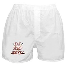 Eat Sleep Hockey Boxer Shorts