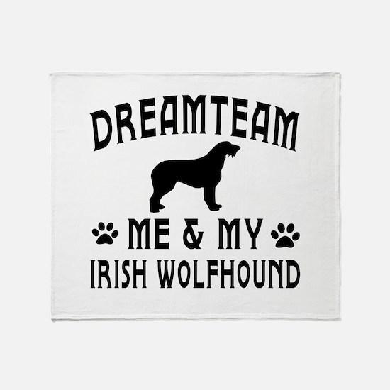 Irish Wolfhound Dog Designs Throw Blanket
