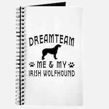 Irish Wolfhound Dog Designs Journal