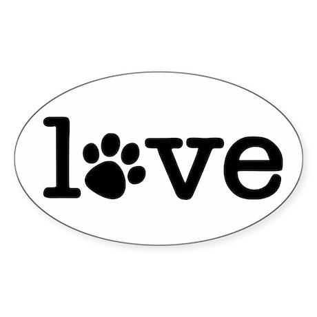 Pet love (white) Sticker