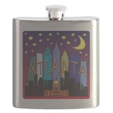 Atlanta Skyline mega color Flask