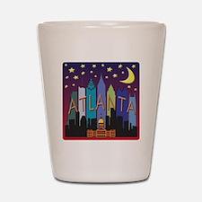 Atlanta Skyline mega color Shot Glass