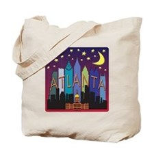 Atlanta Skyline mega color Tote Bag