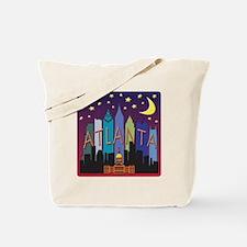 Atlanta Skyline mega color Tote Bag