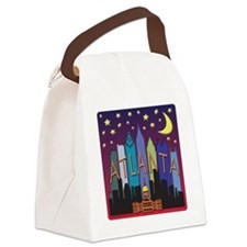 Atlanta Skyline mega color Canvas Lunch Bag