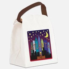 Atlanta Skyline mega color Canvas Lunch Bag
