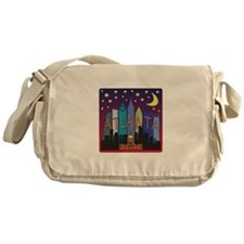 Atlanta Skyline mega color Messenger Bag