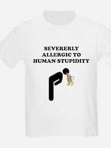 Allergic To Human Stupidity T-Shirt