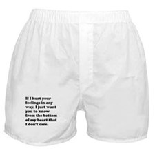 If I Hurt Your Feelings Boxer Shorts