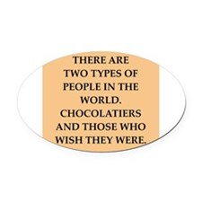chocolate Oval Car Magnet
