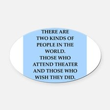 theater Oval Car Magnet