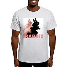 SHADOW PUPPET RABBIT Ash Grey T-Shirt