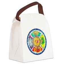 Four Seasons Mandala Canvas Lunch Bag