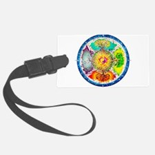 Four Seasons Mandala Luggage Tag