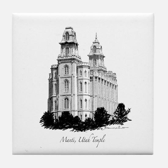 Manti, Utah Temple Tile Coaster