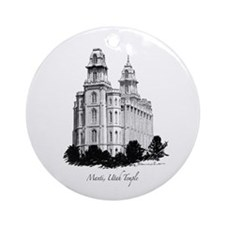 Manti, Utah Temple Ornament (Round)