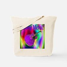 Heavy Metal Purple Coral Guit Tote Bag
