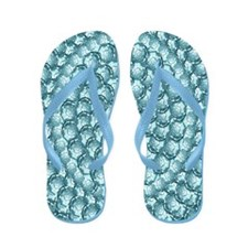 Blue Bubble Pinpoint Flip Flops