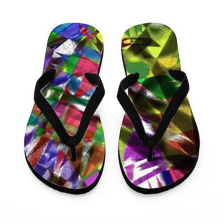 Colorful Splash Flip Flops