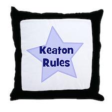 Keaton Rules Throw Pillow