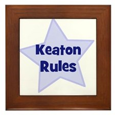 Keaton Rules Framed Tile