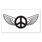 Peace Wing Original Rectangle Sticker