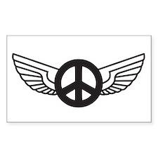Peace Wing Original Rectangle Decal