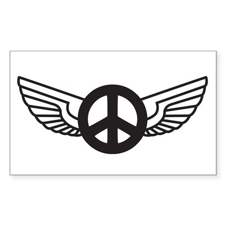 Peace Wing Original Rectangle Sticker