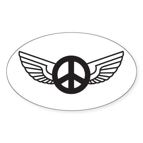 Peace Wing Original Oval Sticker
