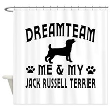 Jack Russell Terrier Dog Designs Shower Curtain