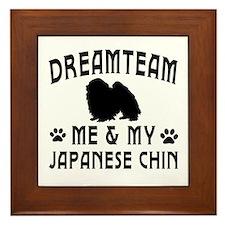 Japanese Chin Dog Designs Framed Tile