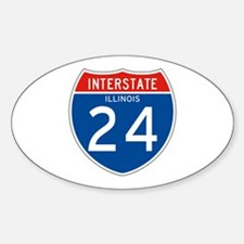 Interstate 24 - IL Oval Decal