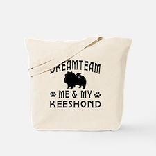 Keeshond Dog Designs Tote Bag