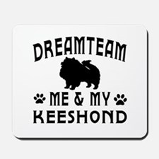Keeshond Dog Designs Mousepad