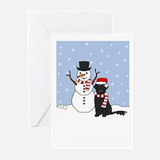 Flat Coat Holidays Greeting Cards (Pk of 10)