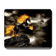Burning Horse Mousepad