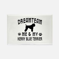Kerry Blue Terrier Dog Designs Rectangle Magnet